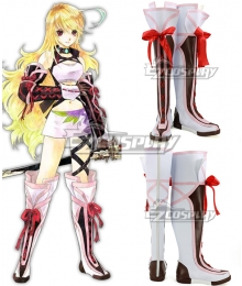 Tales of Xillia Milla White Shoes Cosplay Boots