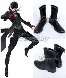 Persona 5 Joker Protagonist Akira Kurusu Ren Amamiya Black Shoes Cosplay Boots