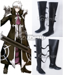 Fate Stay Night  Assassin Charles-Henri Sanson Black Shoes Cosplay Boots