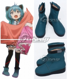 Clockwork Planet Naoto Miura Female Blue Cosplay Shoes