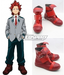 My Hero Academia Boku no Hero Akademia Eijirou Kirishima Uniform Red Cosplay Shoes
