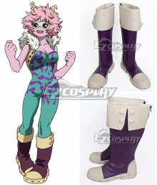 My Hero Academia Boku no Hero Akademia Mina Ashido Purple Shoes Cosplay Boots