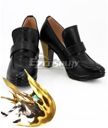 Land of the Lustrous Houseki no Kuni Phosphophyllite Black Golden Cosplay Shoes