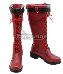 My Hero Academia Boku no Hero Akademia Ochako Uraraka Halloween Red Shoes Cosplay Boots