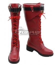 My Hero Academia Boku no Hero Akademia Ochako Uraraka Halloween Red Shoes Cosplay Boots