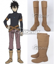 Black Clover Yuno Light Yellow Shoes Cosplay Boots