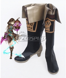 SINoALICE Gretel Breaker Black Shoes Cosplay Boots