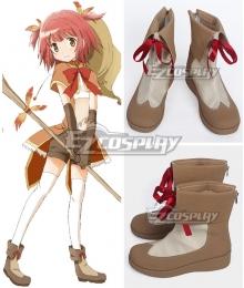 Puella Magi Madoka Magica Side Story: Magia Record Akino Kaede Brown Shoes Cosplay Boots
