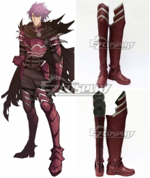 Fire Emblem Deen Red Shoes Cosplay Boots