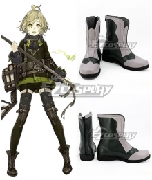 SINoALICE Pinocchio Crusher Black Light Purple Shoes Cosplay Boots