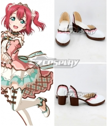 Lovelive! Sunshine!! Ruby Kurosawa White Valentine's Day Card White Cosplay Shoes