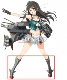 Kantai Collection Chokai Grey Shoes Cosplay Boots