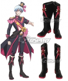 Cute High Earth Defense Club Love! Salty Sol Haruhiko Beppu Black Shoes Cosplay Boots