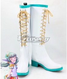 Battle Girl High School Sadone White Shoes Cosplay Boots