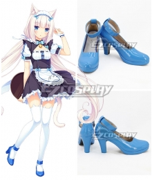 Nekopara Vanilla Blue Cosplay Shoes