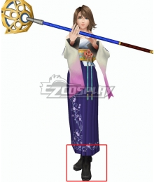 Final Fantasy X FF10 Yuna Black Shoes Cosplay Boots