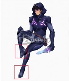 Voltron: Legendary Defender Keith Blade Of Mamora Outfit Black Cosplay Shoes