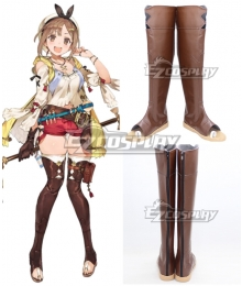 Atelier Ryza: Ever Darkness & the Secret Hideout Reisalin Stout Raizarin Shutauto Raiza Brown Shoes Cosplay Boots