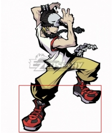 The World Ends with You: Final Remix Beat Daisukenojo Bito Red Cosplay Shoes