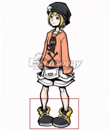 The World Ends with You: Final Remix Raimu Bito Rhyme Black Cosplay Shoes