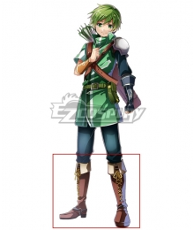 Fire Emblem Altean Archer Gordin Brown Shoes Cosplay Boots