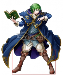 Fire Emblem Wind Mage Merric Brown Shoes Cosplay Boots