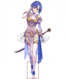 Fire Emblem Echoes: Shadows of Valentia Middle Whitewing Catria White Shoes Cosplay Boots