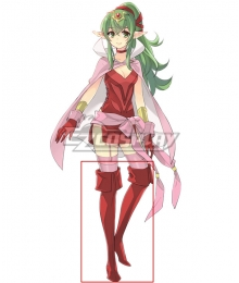 Fire Emblem Dragon Scion Tiki Red Shoes Cosplay Boots