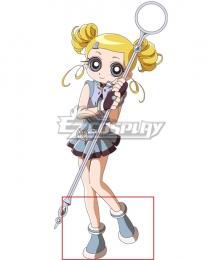 The Powerpuff Girls Z Bubbles Miyako Gotokuji Blue Cosplay Shoes