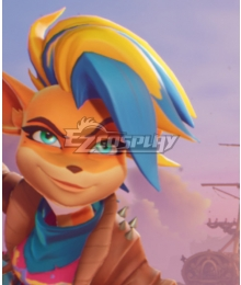 Crash Bandicoot 4 Tawna Blue Golden Cosplay Wig