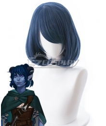Critical Role Jester Lavorre Blue Cosplay Wig - 482A
