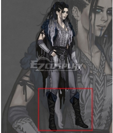 Critical Role Yasha Nydoorin Black Shoes Cosplay Boots