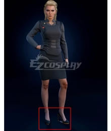 Cyberpunk 2077 Meredith Stout Silver Cosplay Shoes