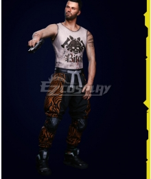 Cyberpunk 2077 V Male Street Kid Cosplay Costume