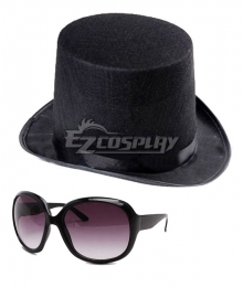 Dancing Coffin Leader Hat Glasses Cosplay Accessory Prop
