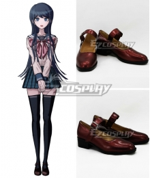Dangan Ronpa Sayaka Maizono Red Wine Cosplay Shoes