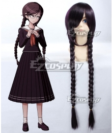 Dangan Ronpa Touko Fukawa Black Purple Cosplay Wig