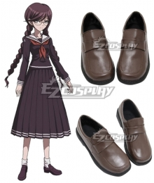 Dangan Ronpa Touko Fukawa Brown Cosplay Shoes
