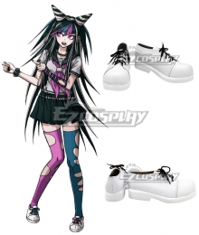 Danganronpa 2: Goodbye Despair Ibuki Mioda White Cosplay Shoes