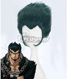 Danganronpa 2: Goodbye Despair Nekomaru Nidai Green Cosplay Wig