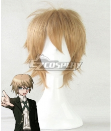 Danganronpa: Trigger Happy Havoc Byakuya Togami Golden Cosplay Wig