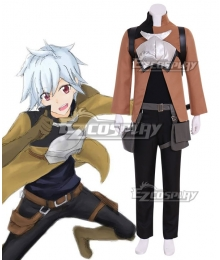 DanMachi Is It Wrong to Try to Pick Up Girls in a Dungeon? Bell Cranel Cosplay Costume - Including Bag