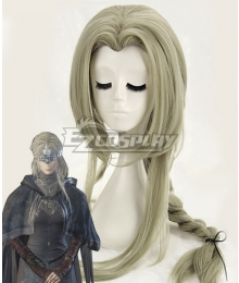 Dark Souls III Fire Keeper Firekeeper Grey Green Cosplay Wig