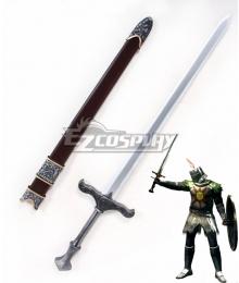 Dark Souls Solaire of Astora Sword and Sheath Cosplay Weapon Prop