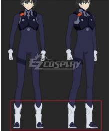 Darling In The Franxx Hiro Battle Suit White Blue Shoes Cosplay Boots
