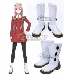 Darling in the Franxx Zero Two Code 002 White Shoes Cosplay Boots