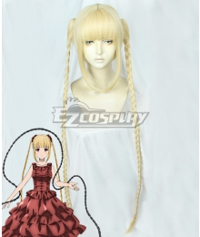 Darwin's Game Karino Shuka Golden Cosplay Wig