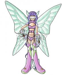 Digimon Kazemon Fairimon Cosplay Costume
