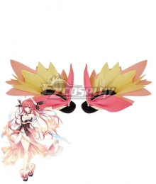 Date A Live Kotori Itsuka Pink Hibiscus Cosplay Shoes