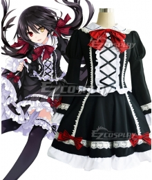 Date A Live Tokisaki Kurumi Nightmare Lolita Dress Cosplay Costume